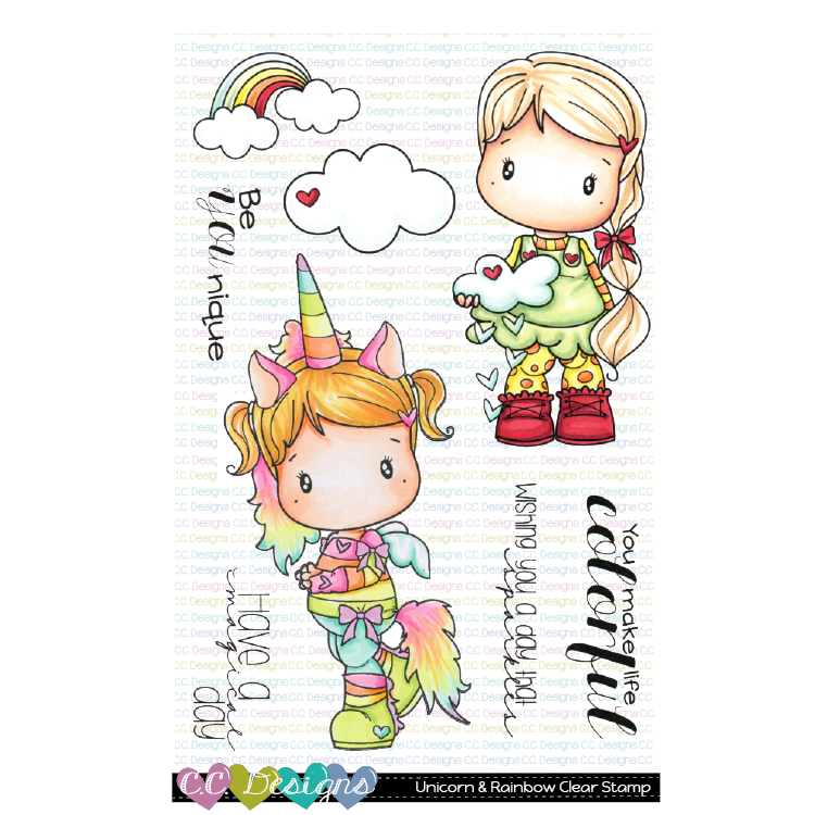 *New Unicorn & Rainbow Clear Stamp Set
