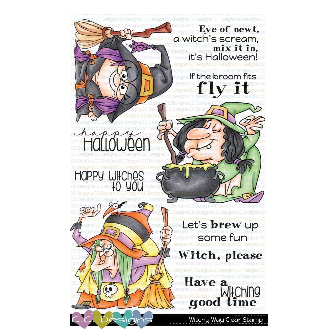 *New Witchy Way Clear Stamp Set