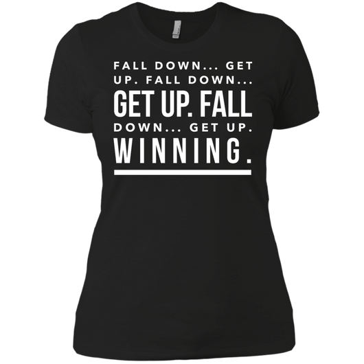 Fall Down... Get Up! Women's Boyfriend Tee