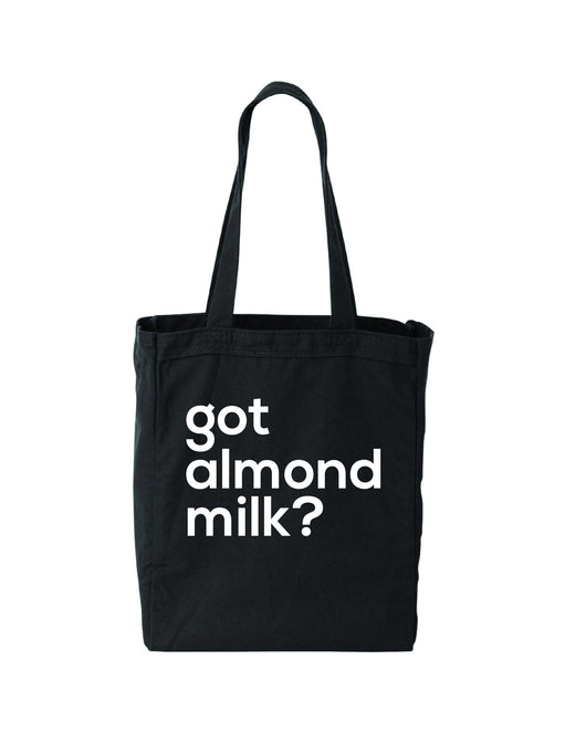 got almond milk? (black tote bag)