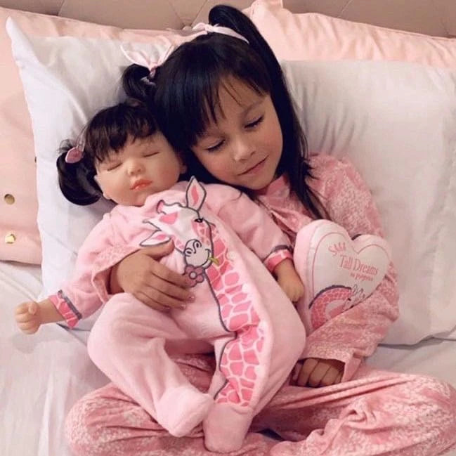 Cuddling up with your reborn dolls can make you feel calm and help soothe you to getting the full night's sleep that you need.
