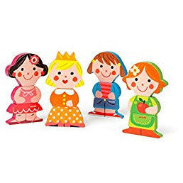 Dolls Magnets - French Carousel