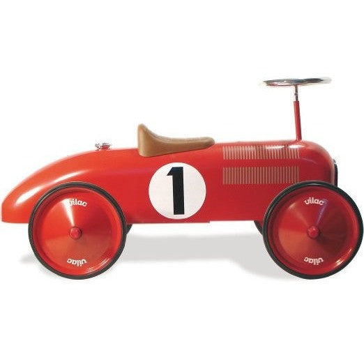 Red Ride-On Vintage Racing Car - French Carousel