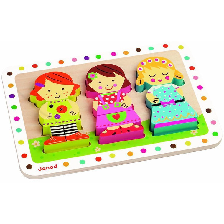 Dolls Chunky Puzzle - French Carousel