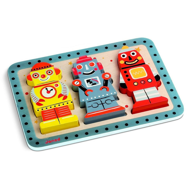 Robots Chunky Puzzle - French Carousel