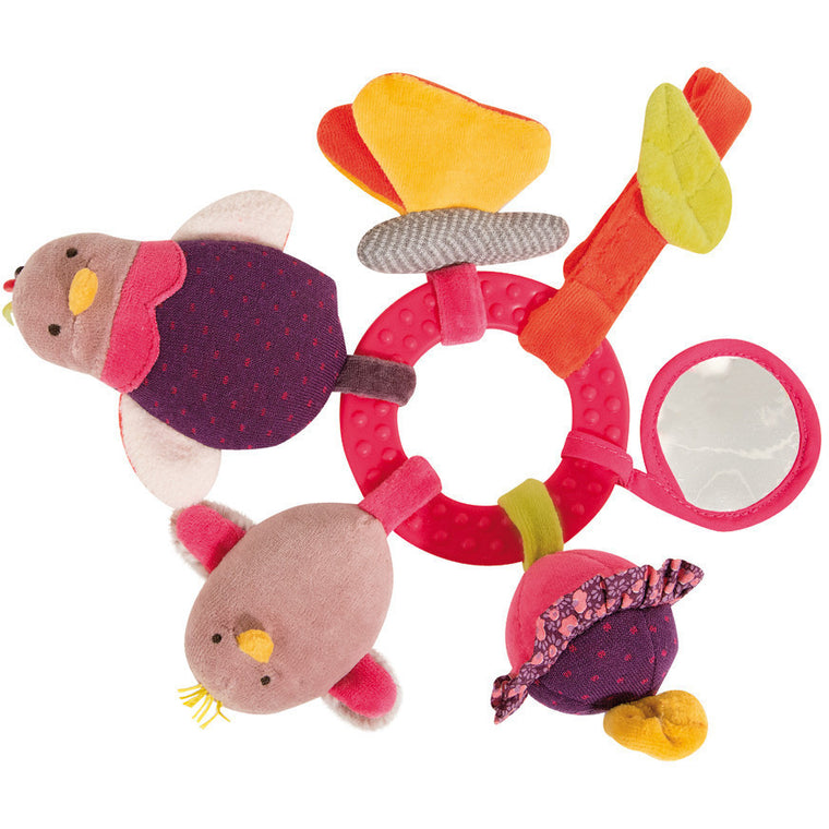 Hen Activity Ring Rattle - French Carousel