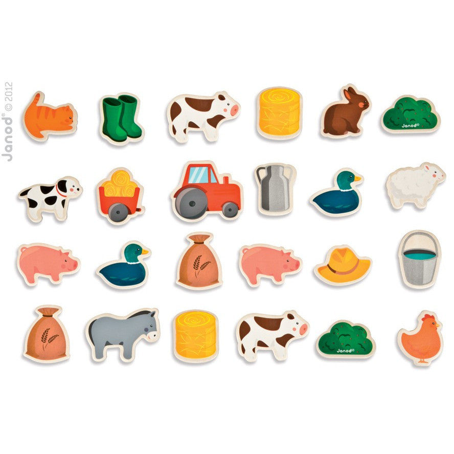 Fun Farm Magnets-24 - French Carousel
