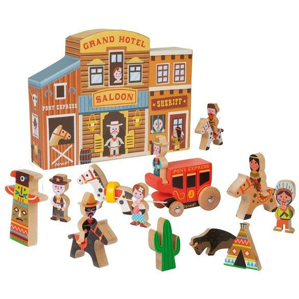 Wooden Saloon Set Story Box - French Carousel