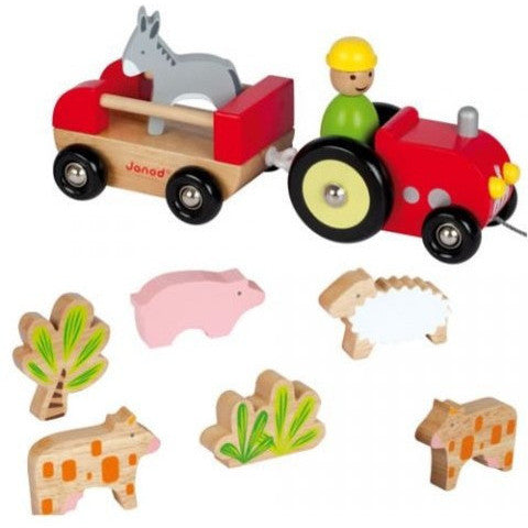 Farmer's Tractor with its animals farm... - French Carousel