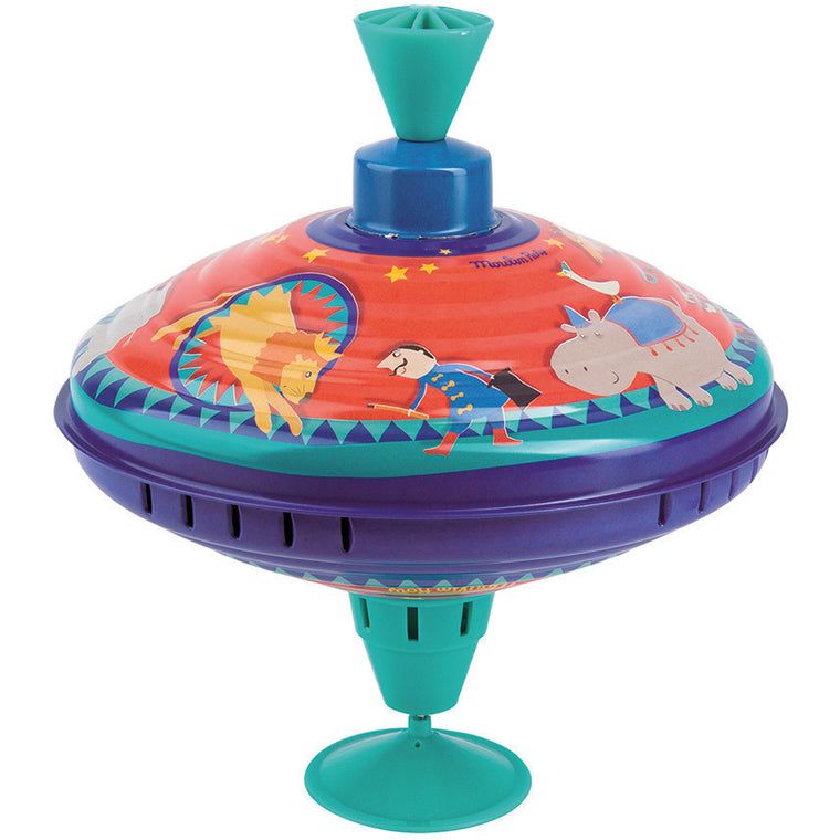 Circus theme Retro Spinning Top - French Carousel