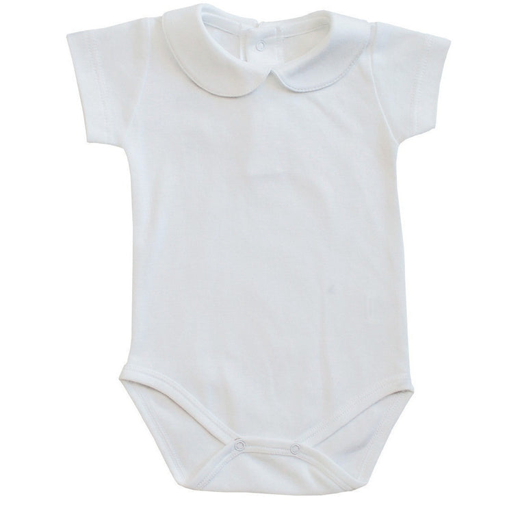 Peter pan collar onesie short sleeves - French Carousel