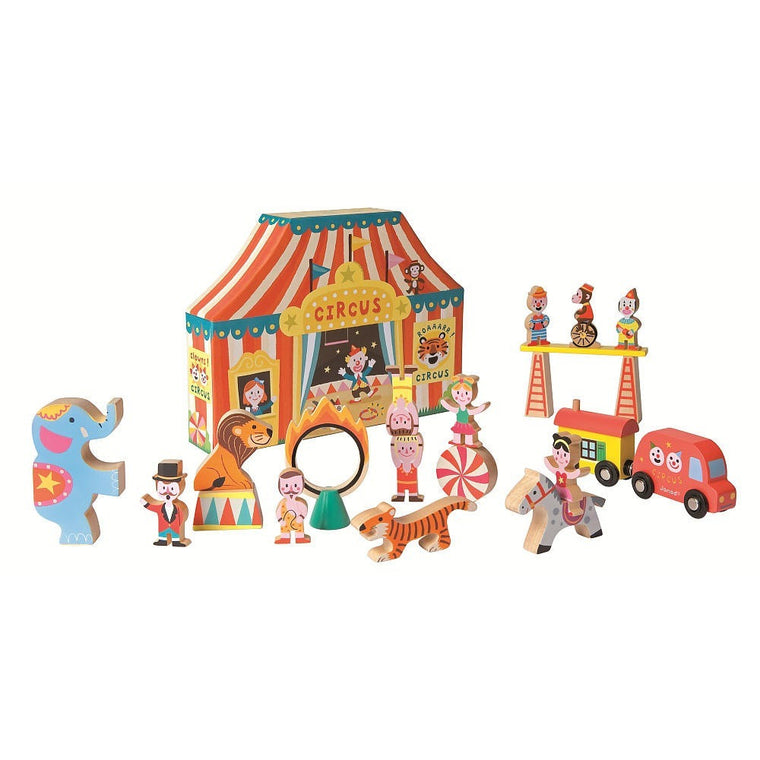 Wooden Circus Story Box Set - French Carousel
