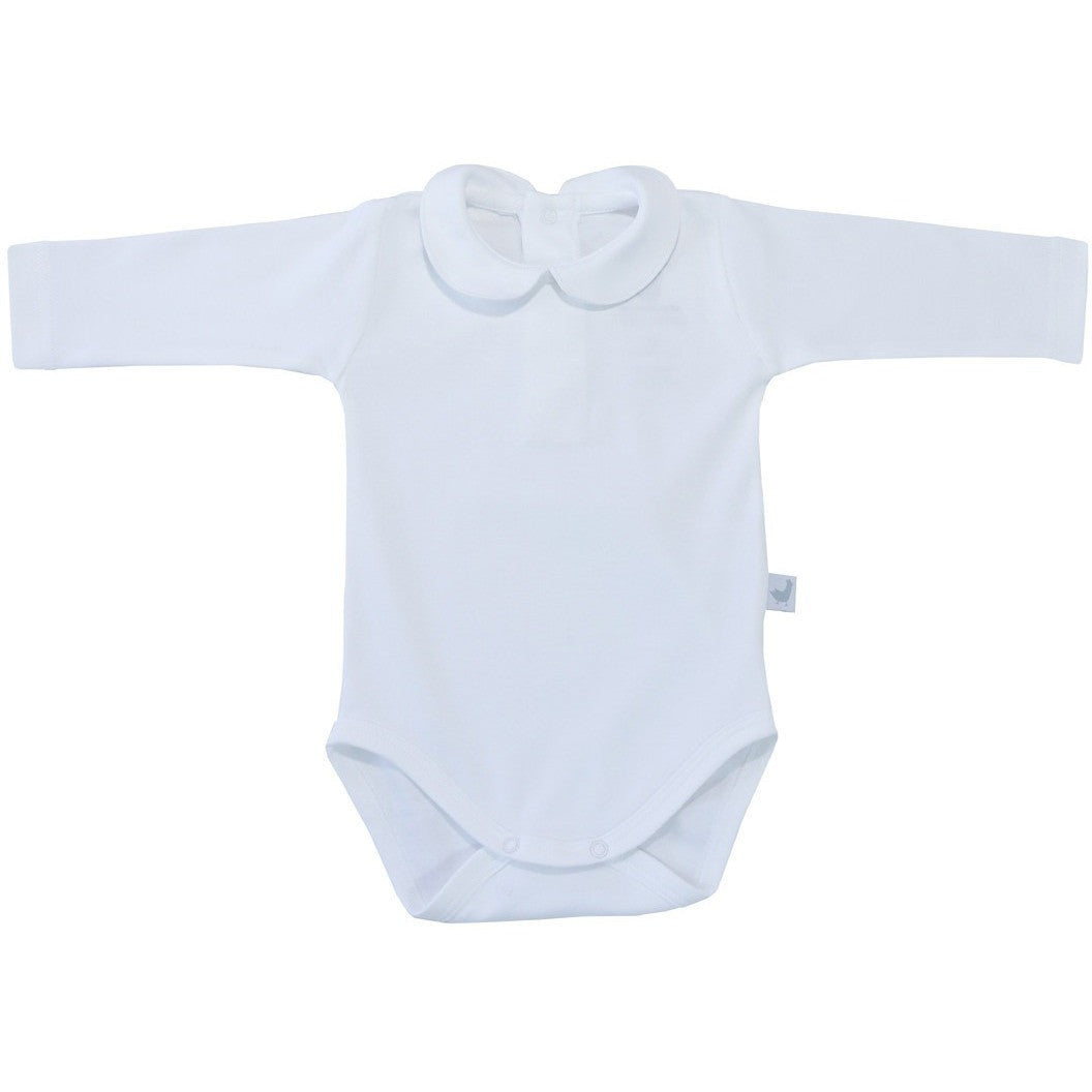 Peter pan collar onesie long sleeves - French Carousel
