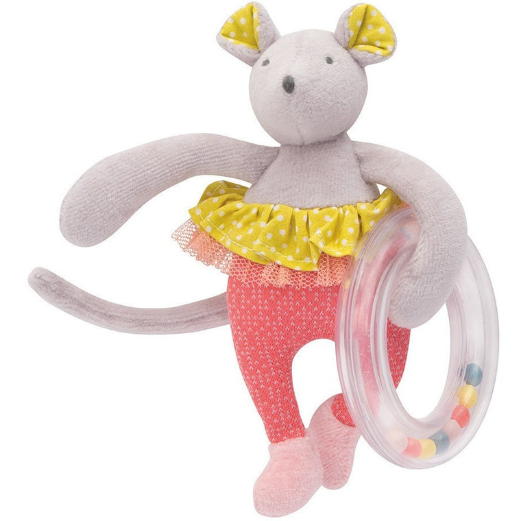 Rattle Ring Ballerina mouse - French Carousel