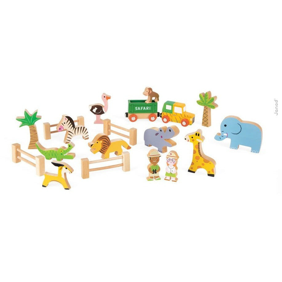 Wooden Safari Story Box - French Carousel
