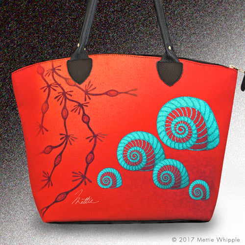 Moonsnail tote bag