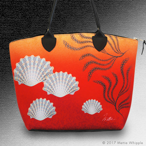 Striped Clam tote