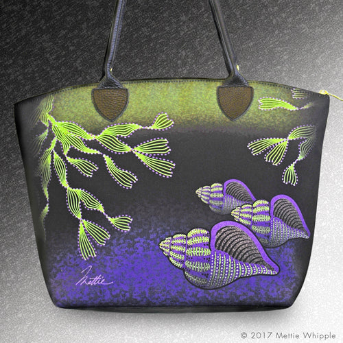 Lavendar Whelks tote bag