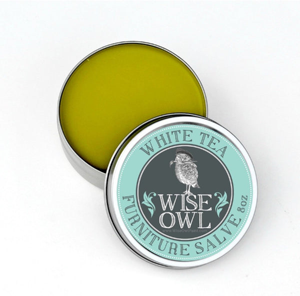 White Tea Natural Furniture Salve Finishing Wax