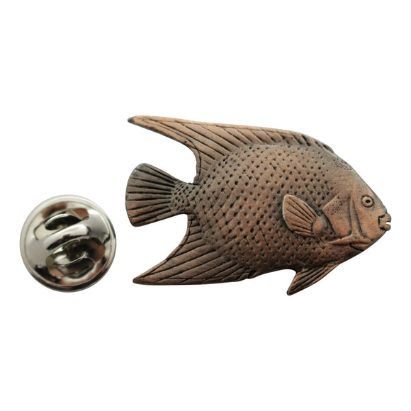 Angelfish Pin ~ Antiqued Copper ~ Lapel Pin ~ Antiqued Copper Lapel Pin ~ Sarah's Treats & Treasures