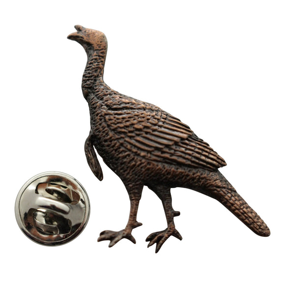 Alert Turkey Pin ~ Antiqued Copper ~ Lapel Pin ~ Antiqued Copper Lapel Pin ~ Sarah's Treats & Treasures