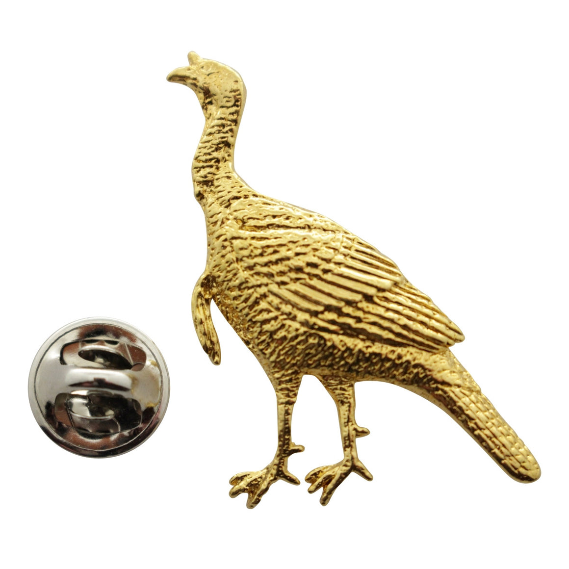 Alert Turkey Pin ~ 24K Gold ~ Lapel Pin ~ 24K Gold Lapel Pin ~ Sarah's Treats & Treasures