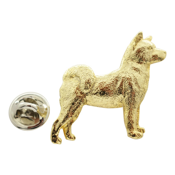 Akita Pin ~ 24K Gold ~ Lapel Pin ~ 24K Gold Lapel Pin ~ Sarah's Treats & Treasures