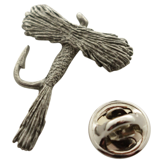 Adams Fly Pin ~ Antiqued Pewter ~ Lapel Pin ~ Sarah's Treats & Treasures