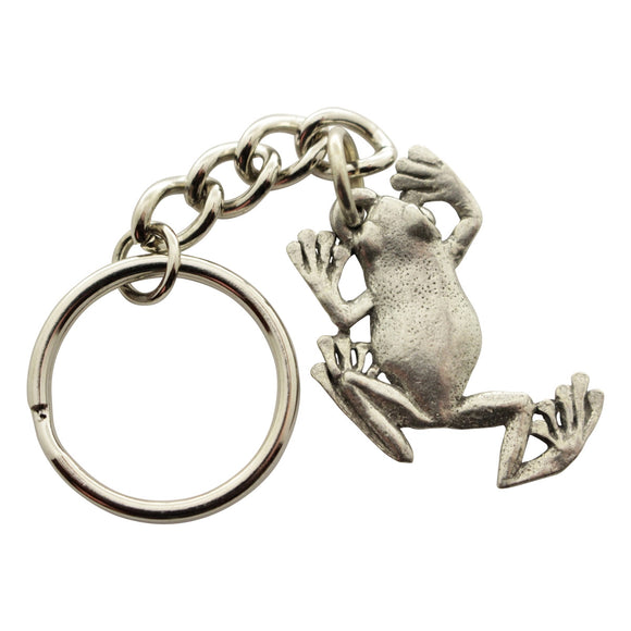 Tree Frog Keychain ~ Antiqued Pewter ~ Keychain ~ Antiqued Pewter Keychain ~ Sarah's Treats & Treasures