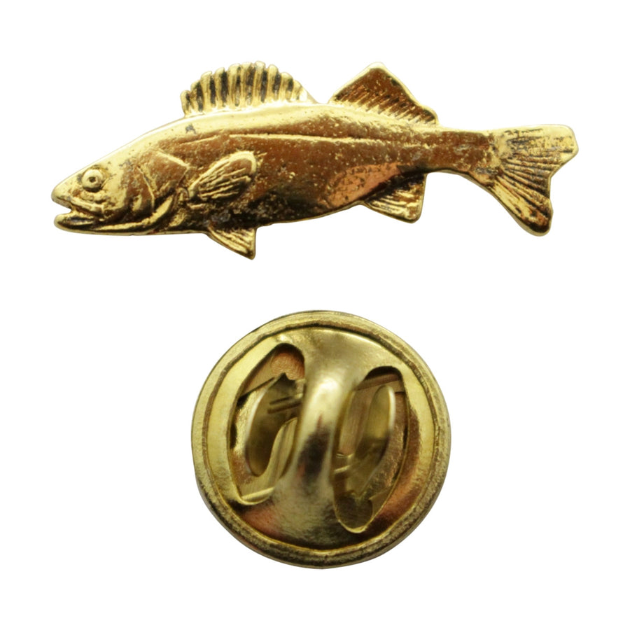 Walleye Mini Pin ~ 24K Gold ~ Miniature Lapel Pin ~ 24K Gold Miniature Lapel Pin ~ Sarah's Treats & Treasures