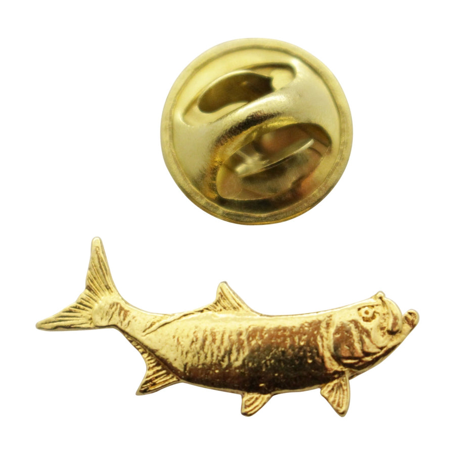 Tarpon Mini Pin ~ 24K Gold ~ Miniature Lapel Pin ~ 24K Gold Miniature Lapel Pin ~ Sarah's Treats & Treasures