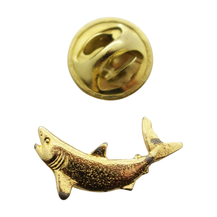 Mako Shark Mini Pin ~ 24K Gold ~ Miniature Lapel Pin ~ 24K Gold Miniature Lapel Pin ~ Sarah's Treats & Treasures