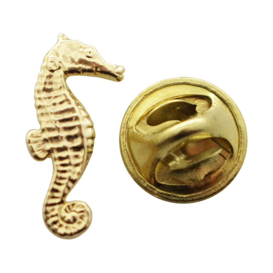 Seahorse Mini Pin ~ 24K Gold ~ Miniature Lapel Pin ~ 24K Gold Miniature Lapel Pin ~ Sarah's Treats & Treasures