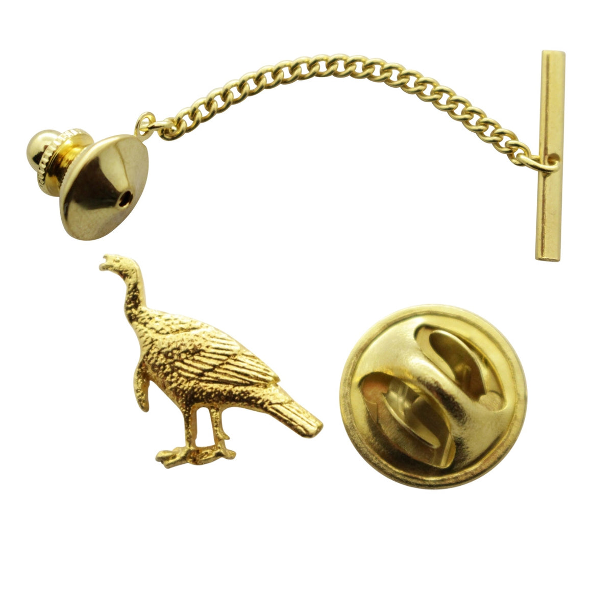 Alert Turkey Tie Tack ~ 24K Gold ~ Tie Tack or Pin ~ 24K Gold Tie Tack or Pin ~ Sarah's Treats & Treasures