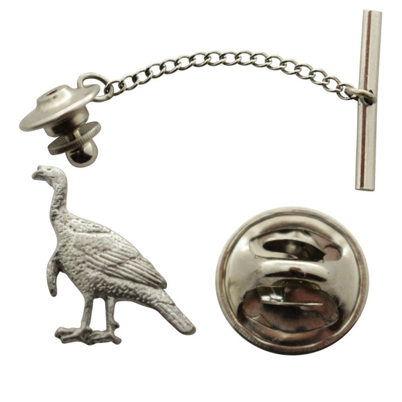 Alert Turkey Tie Tack ~ Antiqued Pewter ~ Tie Tack or Pin ~ Antiqued Pewter Tie Tack or Pin ~ Sarah's Treats & Treasures