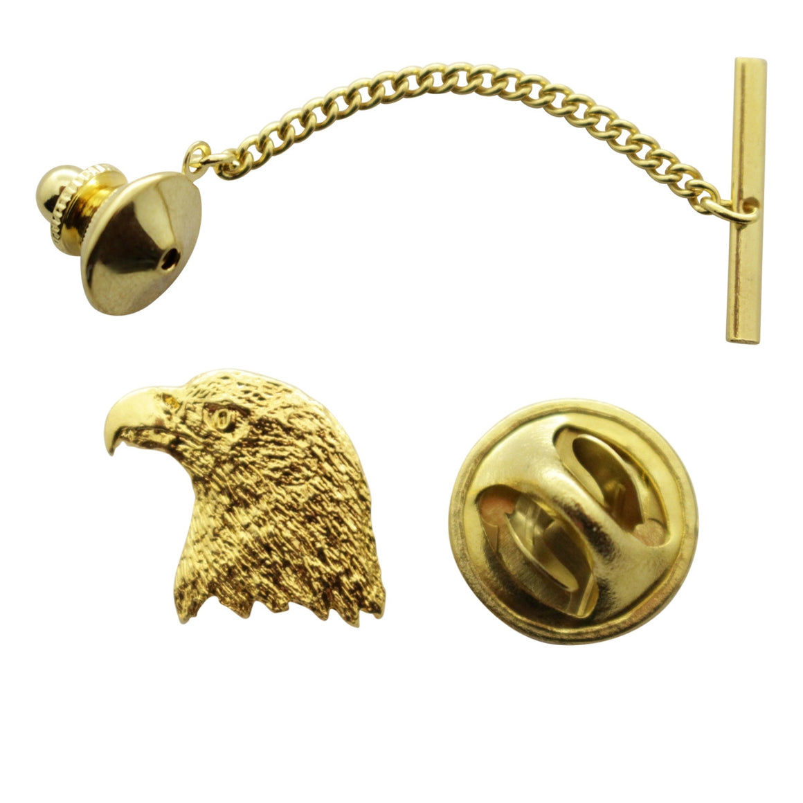 Eagle Tie Tack ~ 24K Gold ~ Tie Tack or Pin ~ 24K Gold Tie Tack or Pin ~ Sarah's Treats & Treasures