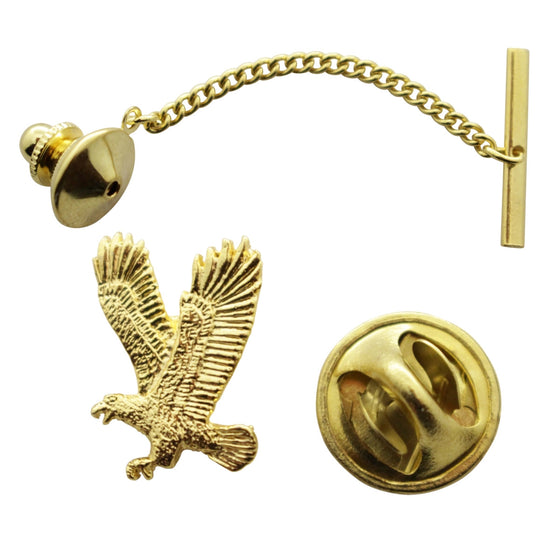 Flying Eagle Tie Tack ~ 24K Gold ~ Tie Tack or Pin ~ Sarah's Treats & Treasures