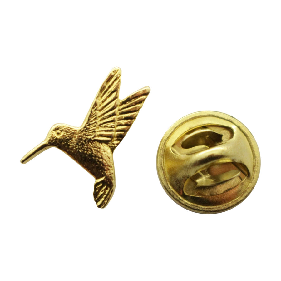 Hummingbird Mini Pin ~ 24K Gold ~ Miniature Lapel Pin ~ 24K Gold Miniature Lapel Pin ~ Sarah's Treats & Treasures