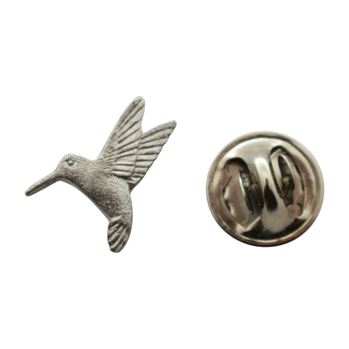 Hummingbird Mini Pin ~ Antiqued Pewter ~ Miniature Lapel Pin ~ Sarah's Treats & Treasures