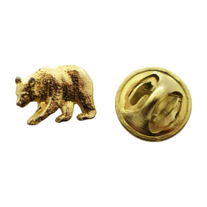 Black Bear Mini Pin ~ 24K Gold ~ Miniature Lapel Pin ~ Sarah's Treats & Treasures