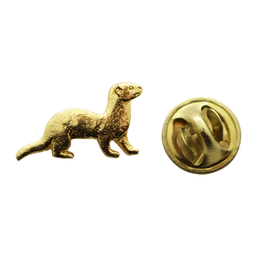 Ferret Mini Pin ~ 24K Gold ~ Miniature Lapel Pin ~ 24K Gold Miniature Lapel Pin ~ Sarah's Treats & Treasures