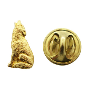Howling Wolf Mini Pin ~ 24K Gold ~ Miniature Lapel Pin ~ 24K Gold Miniature Lapel Pin ~ Sarah's Treats & Treasures