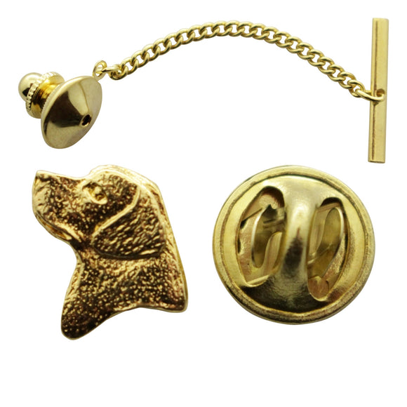 Lab or Labrador Head Tie Tack ~ 24K Gold ~ Tie Tack or Pin ~ 24K Gold Tie Tack or Pin ~ Sarah's Treats & Treasures