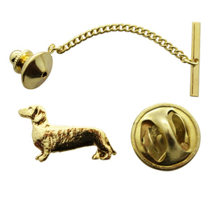 Dachshund Tie Tack ~ 24K Gold ~ Tie Tack or Pin ~ 24K Gold Tie Tack or Pin ~ Sarah's Treats & Treasures