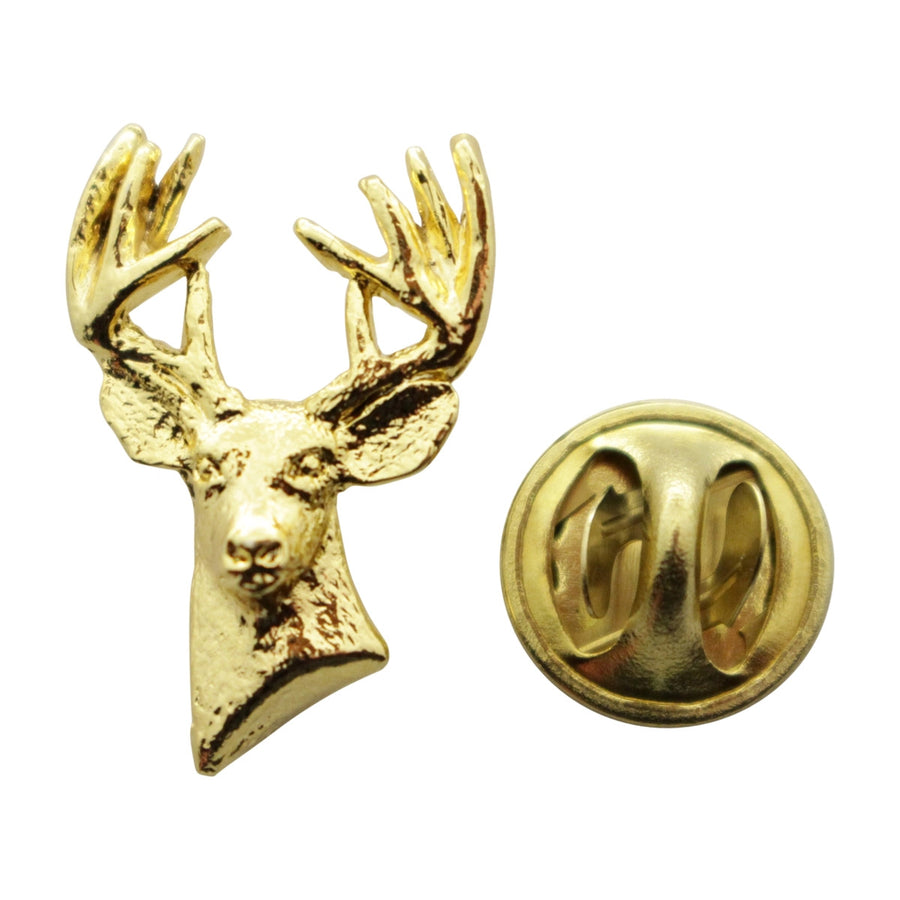 Ten Point Buck Mini Pin ~ 24K Gold ~ Miniature Lapel Pin ~ 24K Gold Miniature Lapel Pin ~ Sarah's Treats & Treasures
