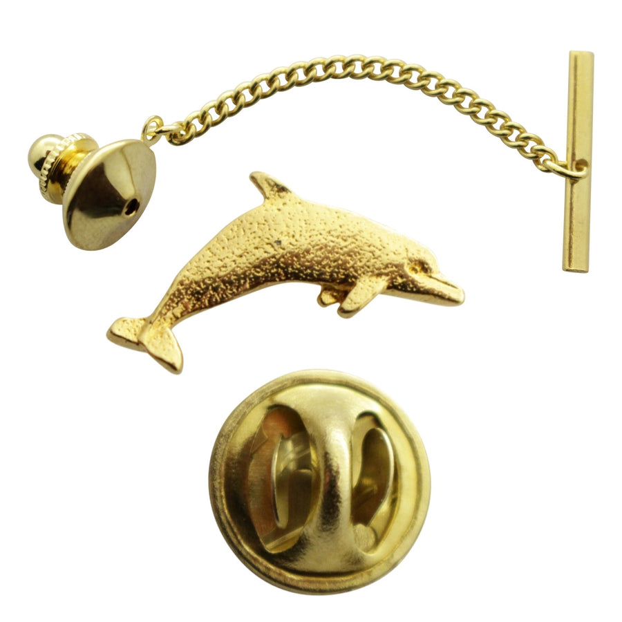 Dolphin Tie Tack ~ 24K Gold ~ Tie Tack or Pin ~ 24K Gold Tie Tack or Pin ~ Sarah's Treats & Treasures