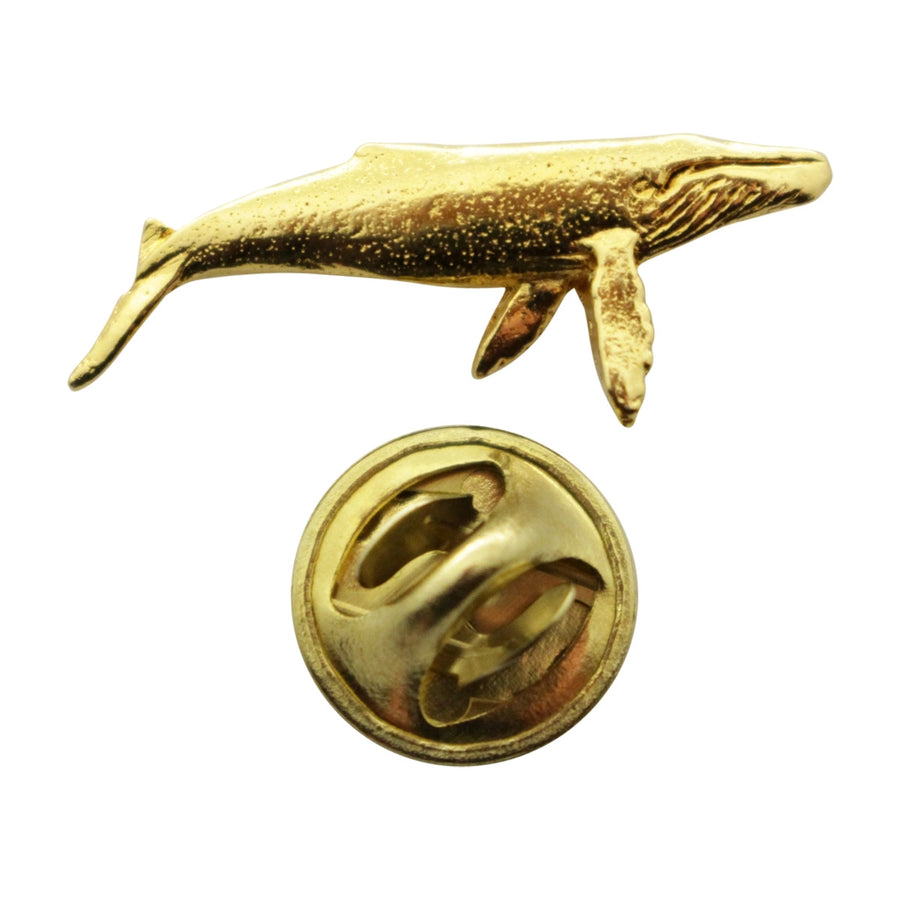 Humpback Whale Mini Pin ~ 24K Gold ~ Miniature Lapel Pin ~ 24K Gold Miniature Lapel Pin ~ Sarah's Treats & Treasures