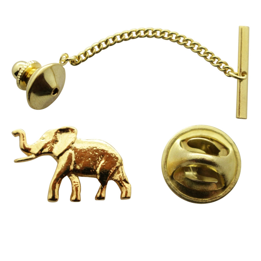 Elephant Tie Tack ~ 24K Gold ~ Tie Tack or Pin ~ 24K Gold Tie Tack or Pin ~ Sarah's Treats & Treasures