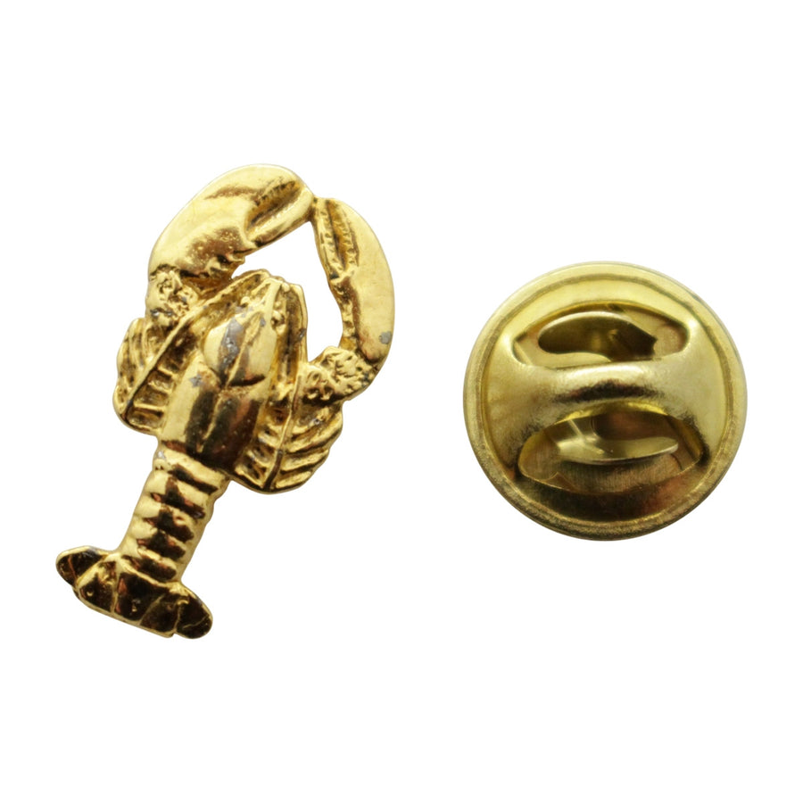 Lobster Mini Pin ~ 24K Gold ~ Miniature Lapel Pin ~ 24K Gold Miniature Lapel Pin ~ Sarah's Treats & Treasures