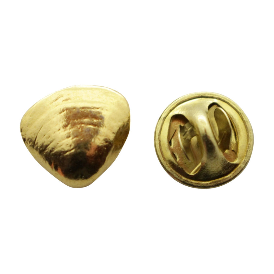 Clam Mini Pin ~ 24K Gold ~ Miniature Lapel Pin ~ 24K Gold Miniature Lapel Pin ~ Sarah's Treats & Treasures